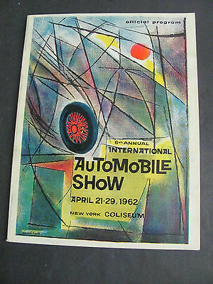 1962 International Automobile Show Program New York Coliseum ADS
