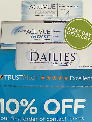 acuvue oasys / moist / dailes lens discount code voucher 10% off contact lenses