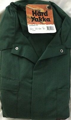 Hard Yakka Coveralls -GREEN -SIZE 122R -BRAND NEW -LESS THAN 1/2 PRICE