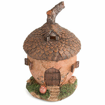 Garden Glows Solar Powered LED Fairy House Light Acorn Ornament Whisper Rose