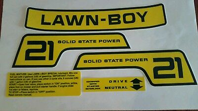reproduction lawn boy 5pc. Promo decal set f-series 1978-82 solid state 21 inch