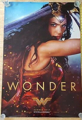 AUTHENTIC / ORIGINAL WONDER WOMAN 2017 DS Movie Poster 27x40