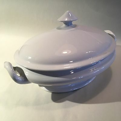 """Antique """"Burgess & Goddard"""" White Ironstone Covered Serving Tureen"""