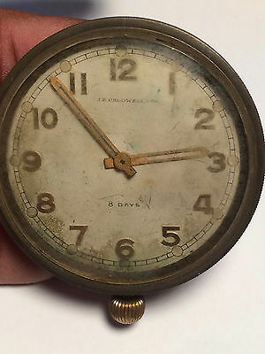 Rare Antique JE Caldwell 8 Days 15 Jewel Clock - For Parts Or Repair
