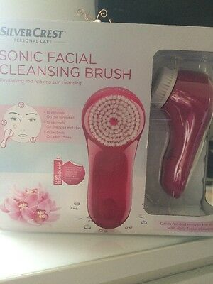 Sonic Facial Cleansing Brush Silver Facial Like Clarisonic Mia
