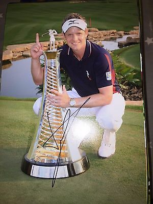Luke Donald Golf Open Masters Ryder Cup Legend Hand Signed 12X8 Photo