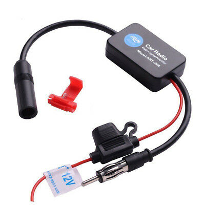 FM Car Radio FM AM Antenna Signal Amplifier Booster ANT-208 12V for Marine
