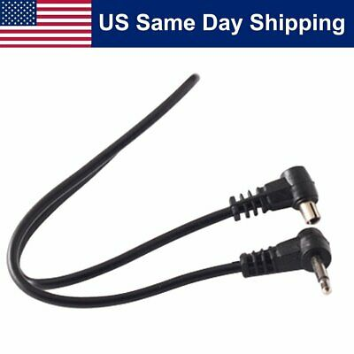 12'' 2.5mm Plug Jack for Trigger Camera Male Flash PC Sync Cord Cable Receiver