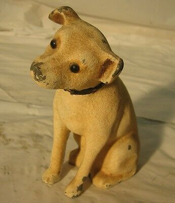 Antique Victor Phonograph Nipper Dog Pewter Bank!