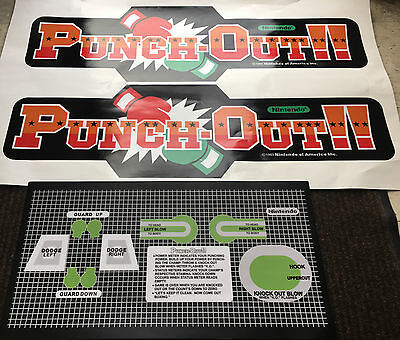Punch-Out Side Art & CPO Arcade Game Cabinet Punch Out
