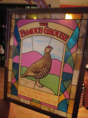 The Famous Grouse Noblest Species of Scotch Sign hanging panel