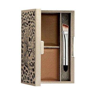 Clever cat Eyebrow Powder Eye Brow Palette Cosmetic Makeup Shading With Brush N3