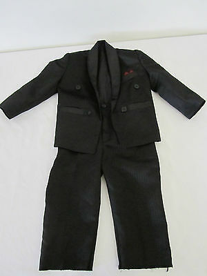 Baby Toddler BOYS Black SUIT Size 2 Wedding Formal Occasional 2 piece