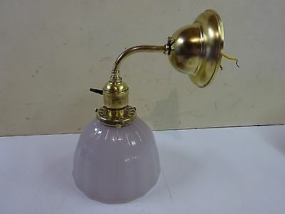 vintage light fixture wall mount frosted glass art deco
