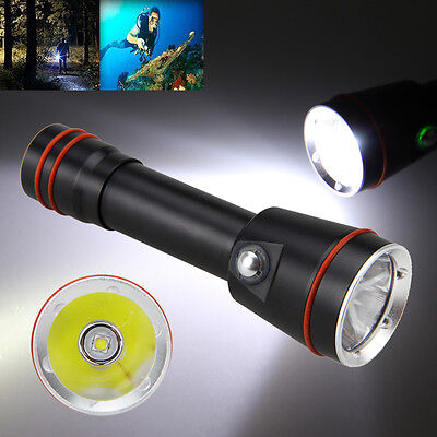 photography 5000LM XM-L2 LED Diving Flashlight Video Torch Lamp 1x18650 Battery