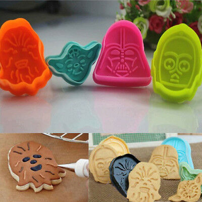Cake Fondant Plunger Cutter Mould Biscuit Cookies Decorating Mold