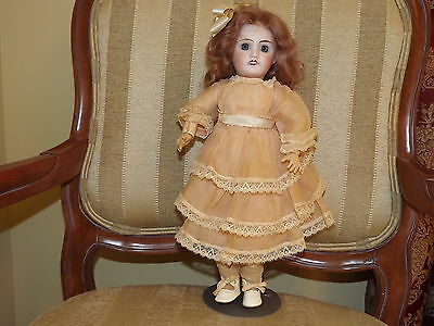1900's French Bisque Head and Composition Doll Petite Francaise France 15  in.