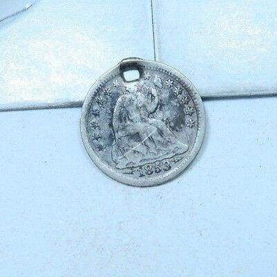 1853 Seated Liberty Half Dime // LOW MINTAGE! // 90% Silver (XHD319)