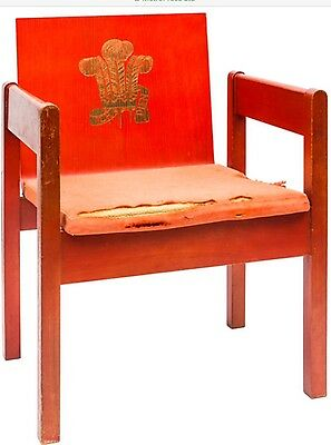 HRH The Prince Of Wales Investiture 1969 - RARE Lord Snowden Designed Seat