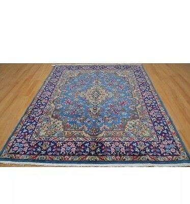 antique handmade persian kerman rug with amazing color