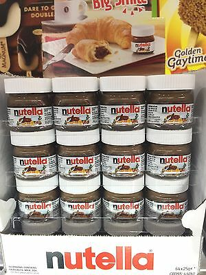 New Mini Nutella Glass Jar 25g Each 64 Pk. Best Before 19/10/2018