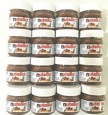 Cute Mini Nutella Jars 16 Pk, 25g Each. BB 08/02/2018Long Date