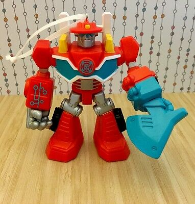 """Transformers Rescue Bots 4"""" Heatwave Fire Bot Figure Christmas Holiday Ornament"""