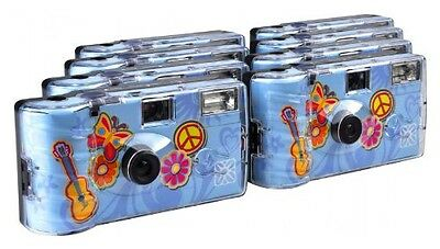TopShot Flower Power Disposable Camera 27 Photos Flash 8 Pack