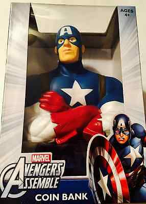 Captain America coin bank Marvel ages 4+ Avengers Assemble New in box