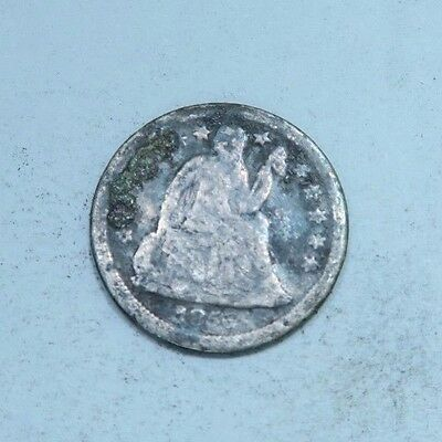 1856 Seated Liberty Dime // Good+ // 90% Silver (SD404)