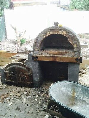 antique Cast Iron Doors Pizza Oven Collectable  Foundery Restaurant