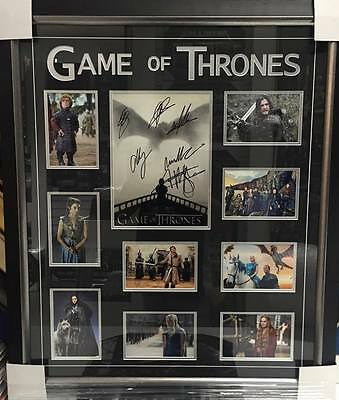 Game Of Thrones Personally Hand Signed Photo Collage Kit Harington Emilia Clarke