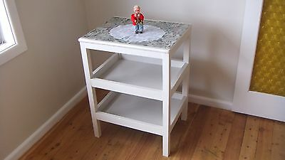 Retro 3 tier Kitchen-Dining White Shelf Unit from the 1950's