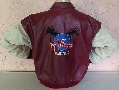 Vintage 1995 Made Especially 4 Planet Hollywood Beverly Hills Leather Jacket XL