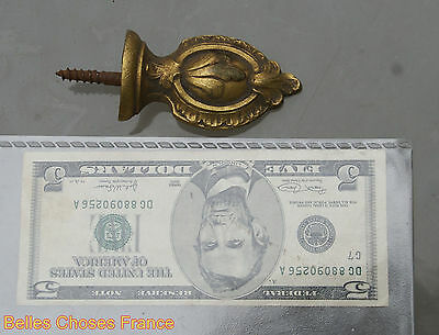 Vintage  french gold bronze finial pediment embellishment