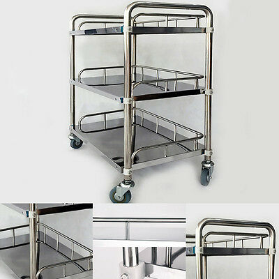 Stainless Steel Best Hospital Medical Trolley Dental Lab Tray Cart 3 Layer IN945