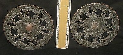 Antique Looking Indian Brass Pair Of Door Handle Rare #3