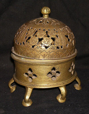 Antique IslamicTraditional Indian Incense Burner Bronze Rare Ritual Collectible