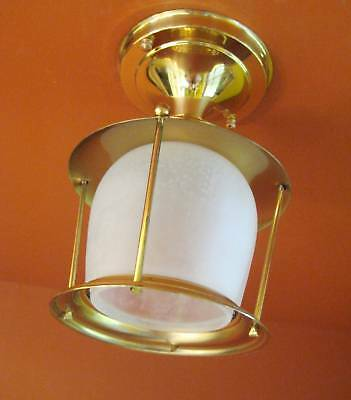 Vintage 1950s Eames Mid Century Never Used porch foyer light   More Available