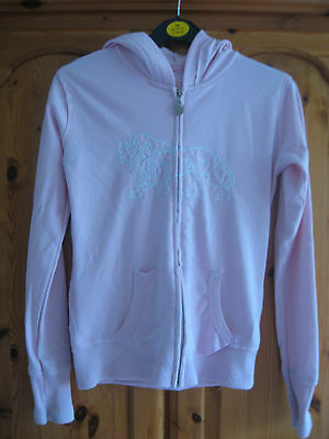 Girls Clothes Lonsdale Pink Hoodie Zipped Top Jacket Age 11 - 12 Years Vgc
