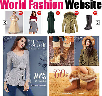 Fasion Website - International - No Extra Costs - Online Internet Home Business