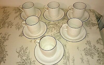Poole broadstone cups and saucers