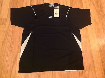 Genuine Yonex Black And White Mens Badminton Shirt Size Extra Small