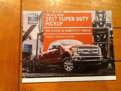 2017 Ford SD f250 350 450 product info book new