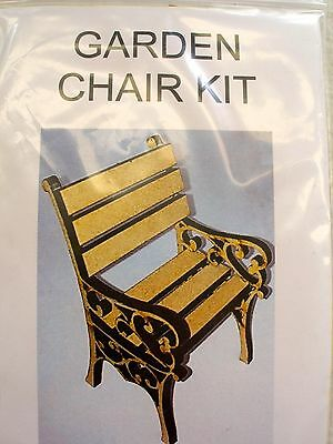 Dollhouse Miniature Chair Kit For Doll Garden -1/12Th Scale -Wooden
