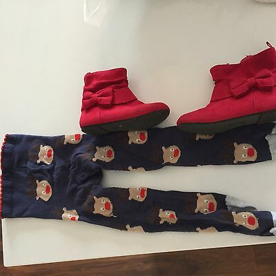 Girls Boots And Christmas Tights