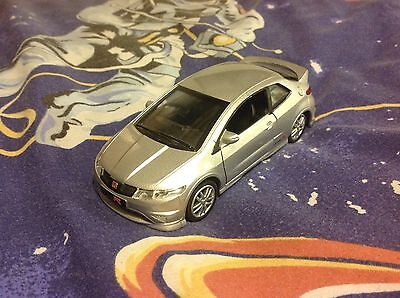 Silver Honda Civic 1/32 Scale - Perfect For Scalextric Scenery