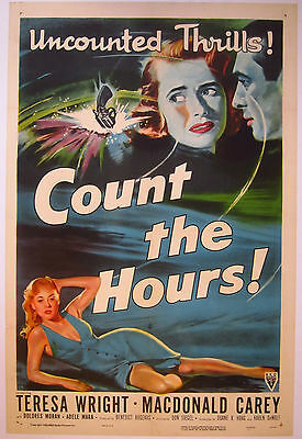 Count the Hours - US LINEN BACKED One Sheet 27 x 41 inches