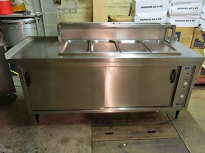 Bain Marie 4 compartment and warming oven heated cupboard bain-marie underneath