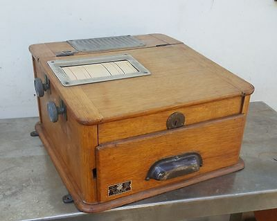 Vintage French wooden cash register drawer till counter top large size perfect